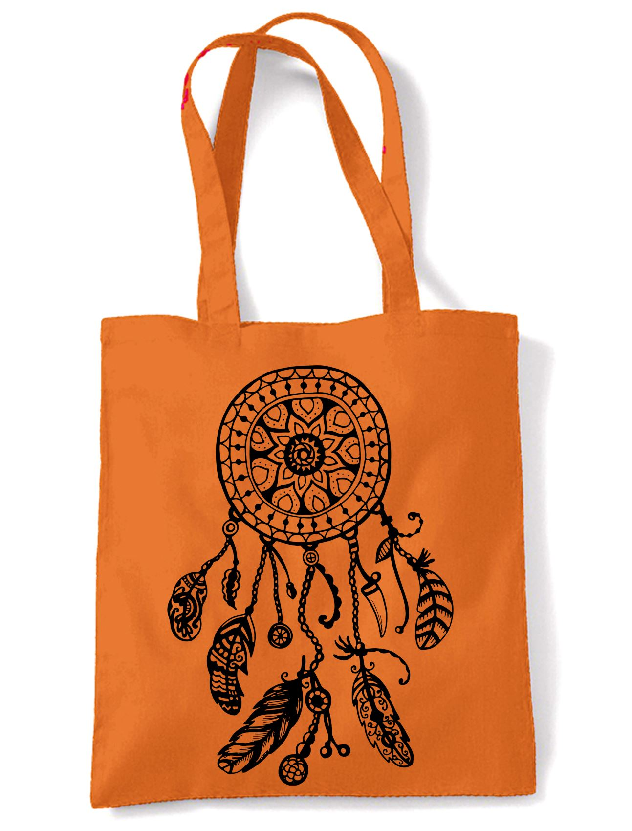 Dreamcatcher Native American Hipster Large Print Tote Shoulder Shopping Bag