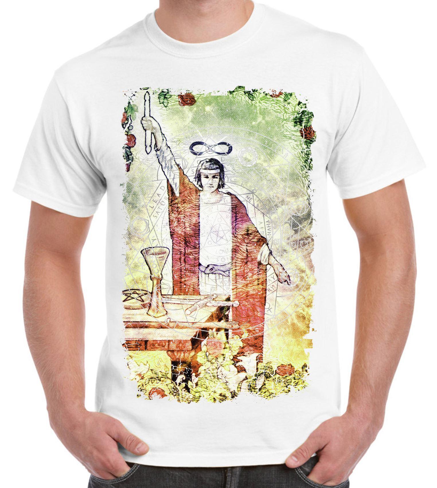bd1f4ecd90559f The Magician Tarot Card Large Print Men s T-Shirt - Pagan Wicca Crowley