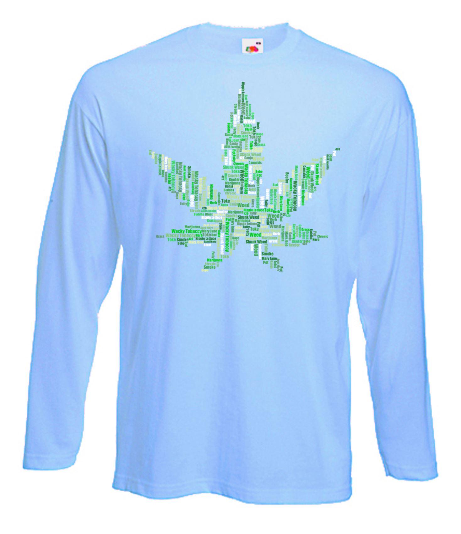 Cannabis Slang Names Funny Long Sleeve T-Shirt | eBay