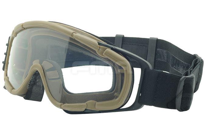 Airsoft Paintball Ops Core Jump Fan Anti Niebla Clear si Gafas Gafas Tan Arena DE