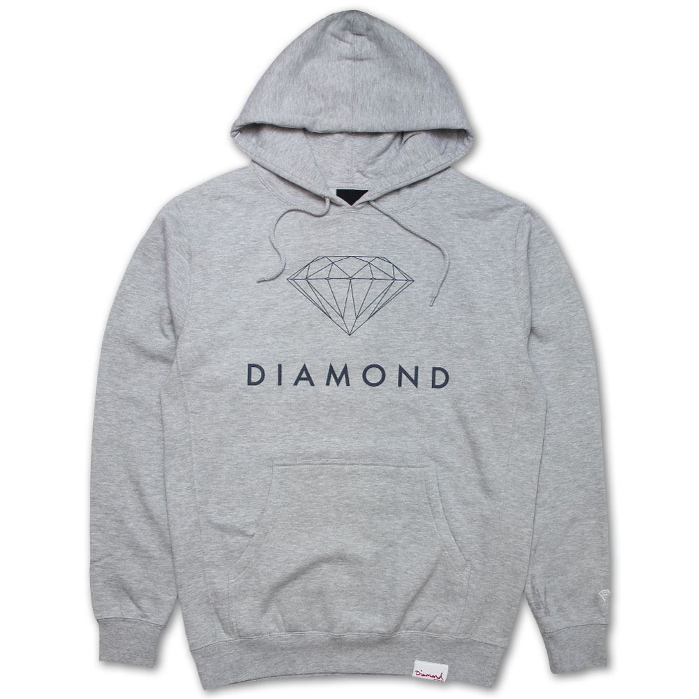 Diamond Supply Co Futura Sign Hoodie Grau