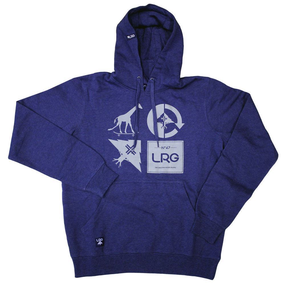 Lrg RC Logo Mash Up Pullover Hoodie Navy Heather