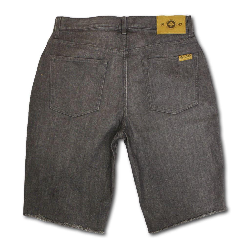 Lrg bianco e nero vero Dritto Pantaloncini Di Di Di Jeans Passeggiata Grigio Crinkle Wash 74827f