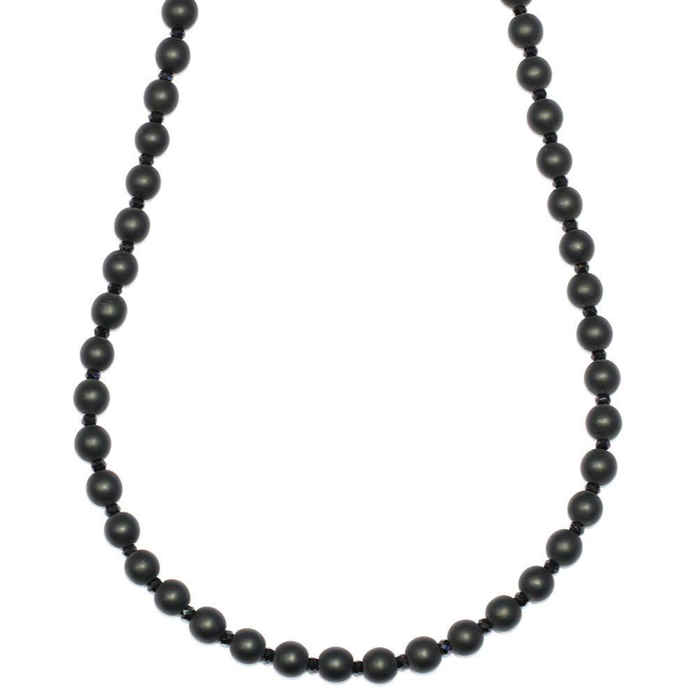 Onyx Onyx Onyx e Sfaccettato Cristallo Collana Di Perline 6 mm x 30 in (ca. 76.20 cm) di lunghezza bb40a8