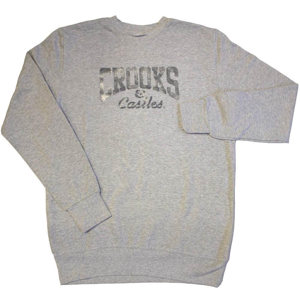 Crooks & Castles Core Logo Sweatshirt Grau       New Style  3644fc