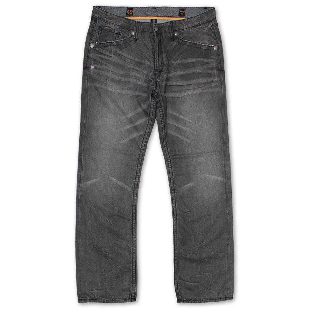 Rivet De Cru MAE Fit Jeans in in in pelle scamosciata lavaggio d100de