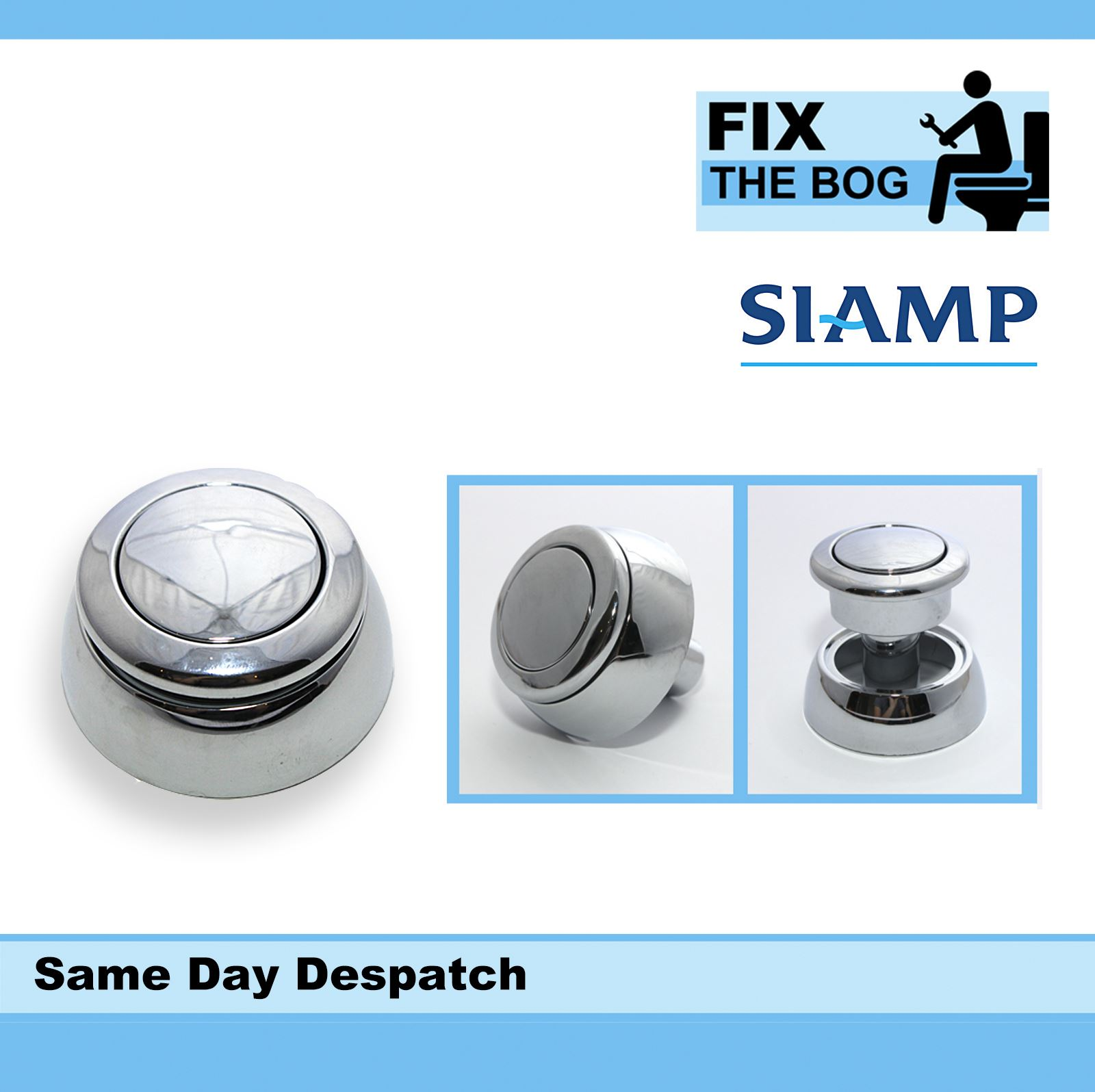 Siamp Storm 33a Replacement Chrome Plated Single Flush Button Bq