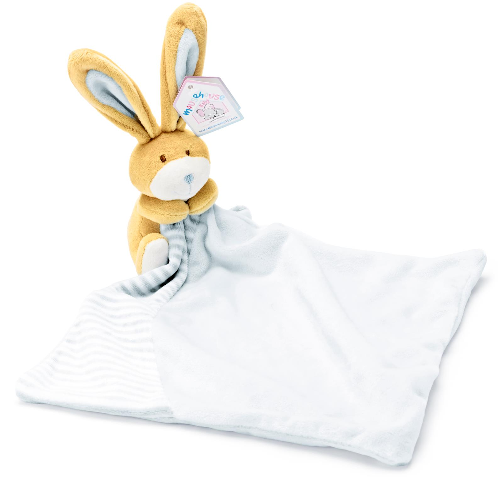 Personalised Baby Comforter,Embroidered Gift,Bunny Rabbit Comfort Blanket Gifts