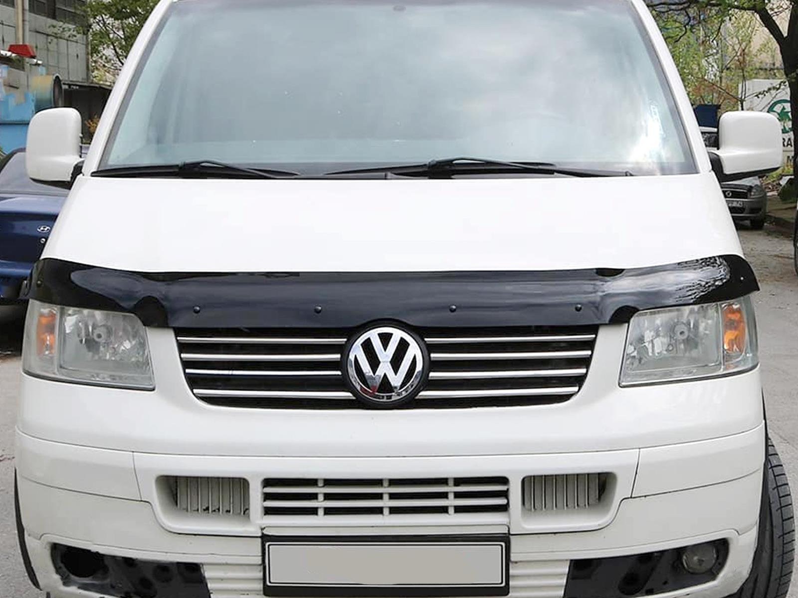 Van Demon Tailored Black Bonnet Deflector Acylic Hood Stone Bug Protector Guard for VW Transporter T5 03-10