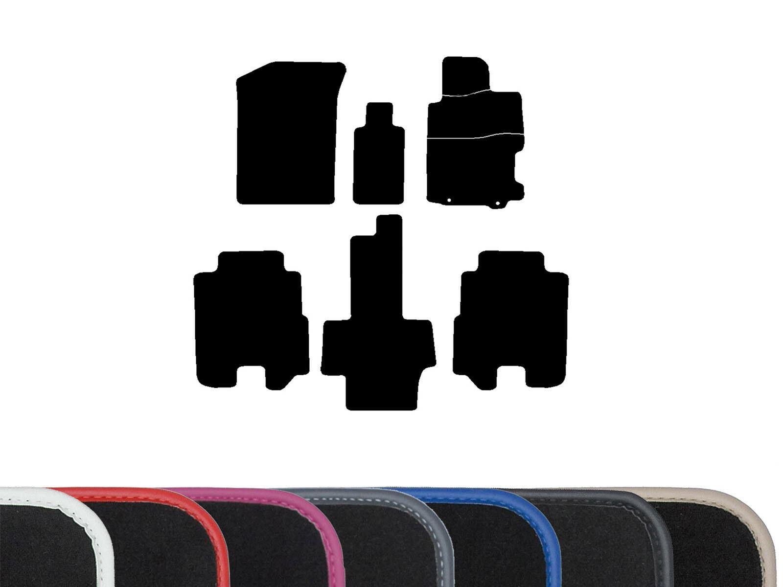 Heel Pad Black Edge Trim Quality Velour Black Carpet Interior Car Floor Mats