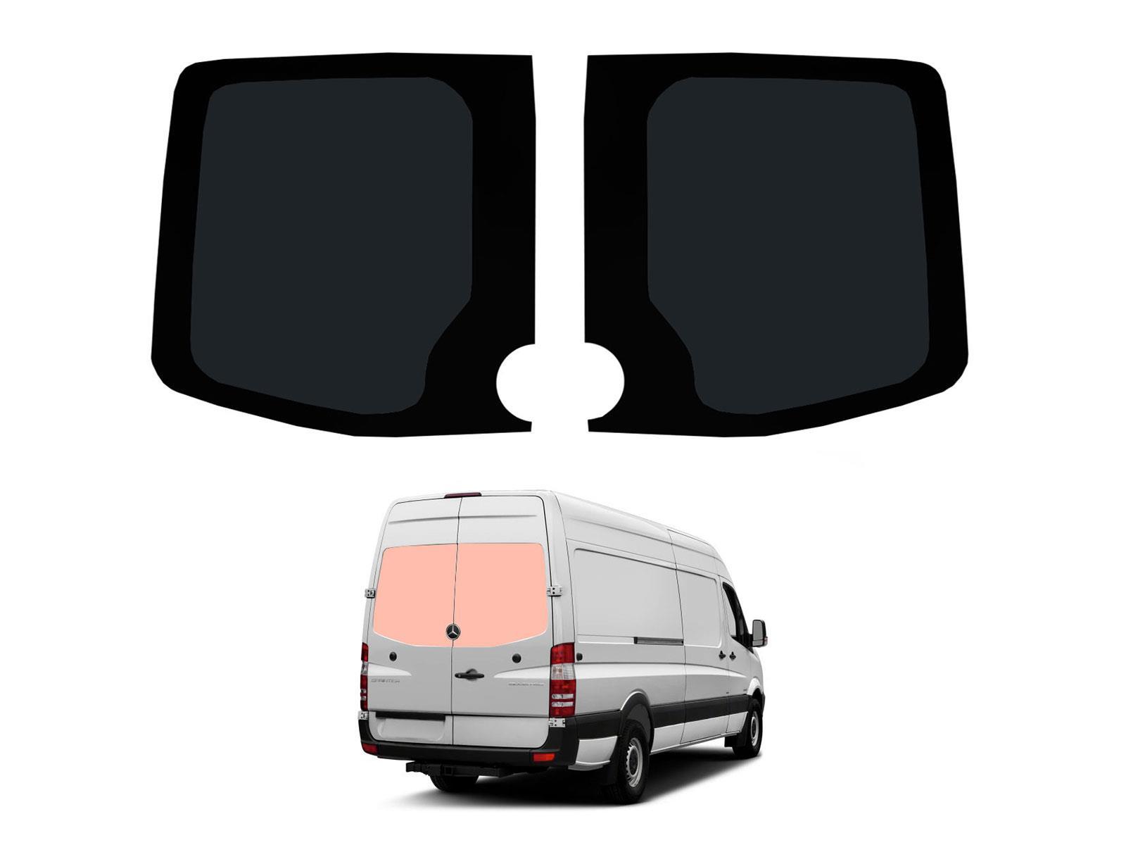 Rear Barn Door Dark Tint Windows Pair Van Glass for Mercedes Sprinter 2006 on