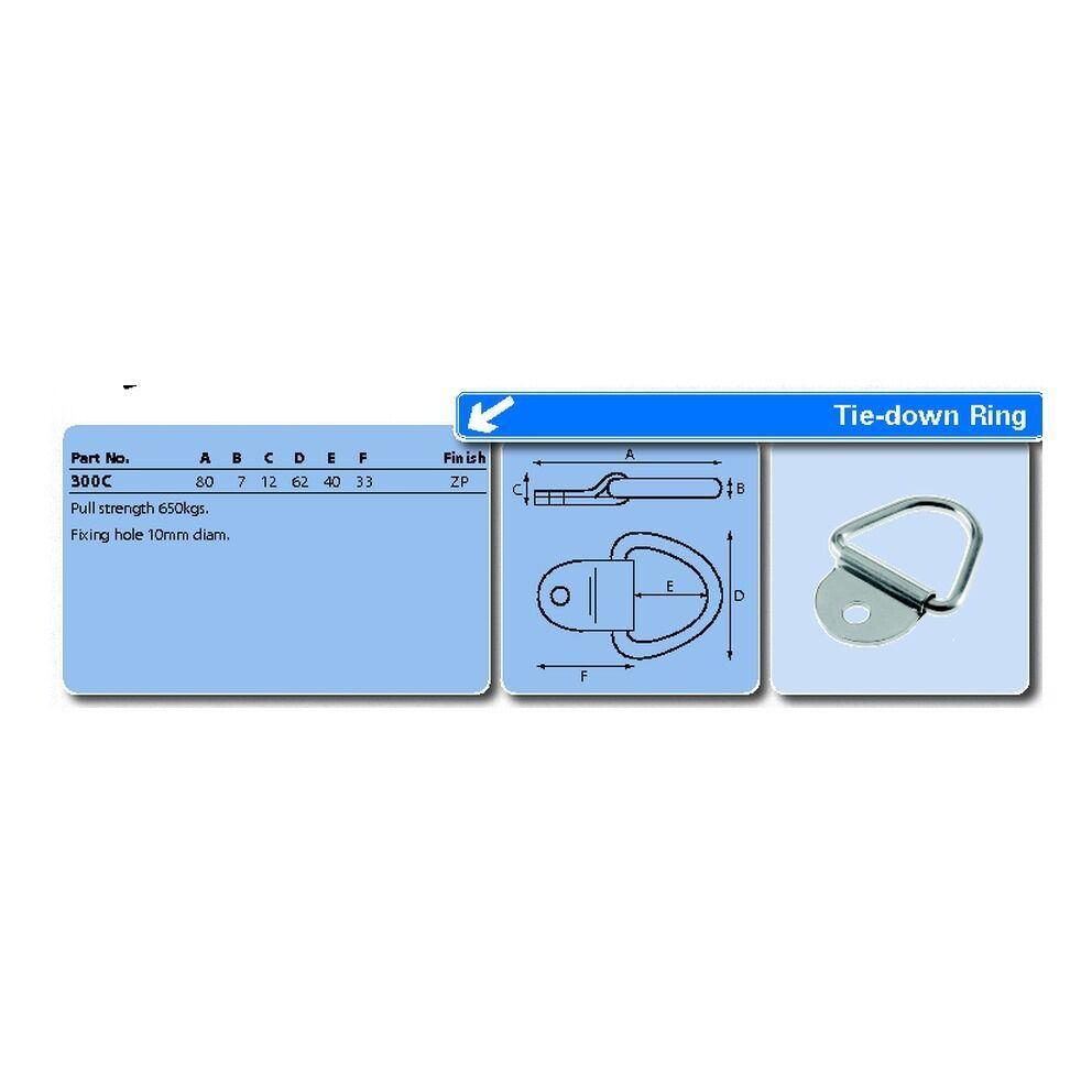 Durable-Amarre-Anillo-de-amarre-de-acero-punto-de-carga-asegurar-punto-de-anclaje-de-alta miniatura 2