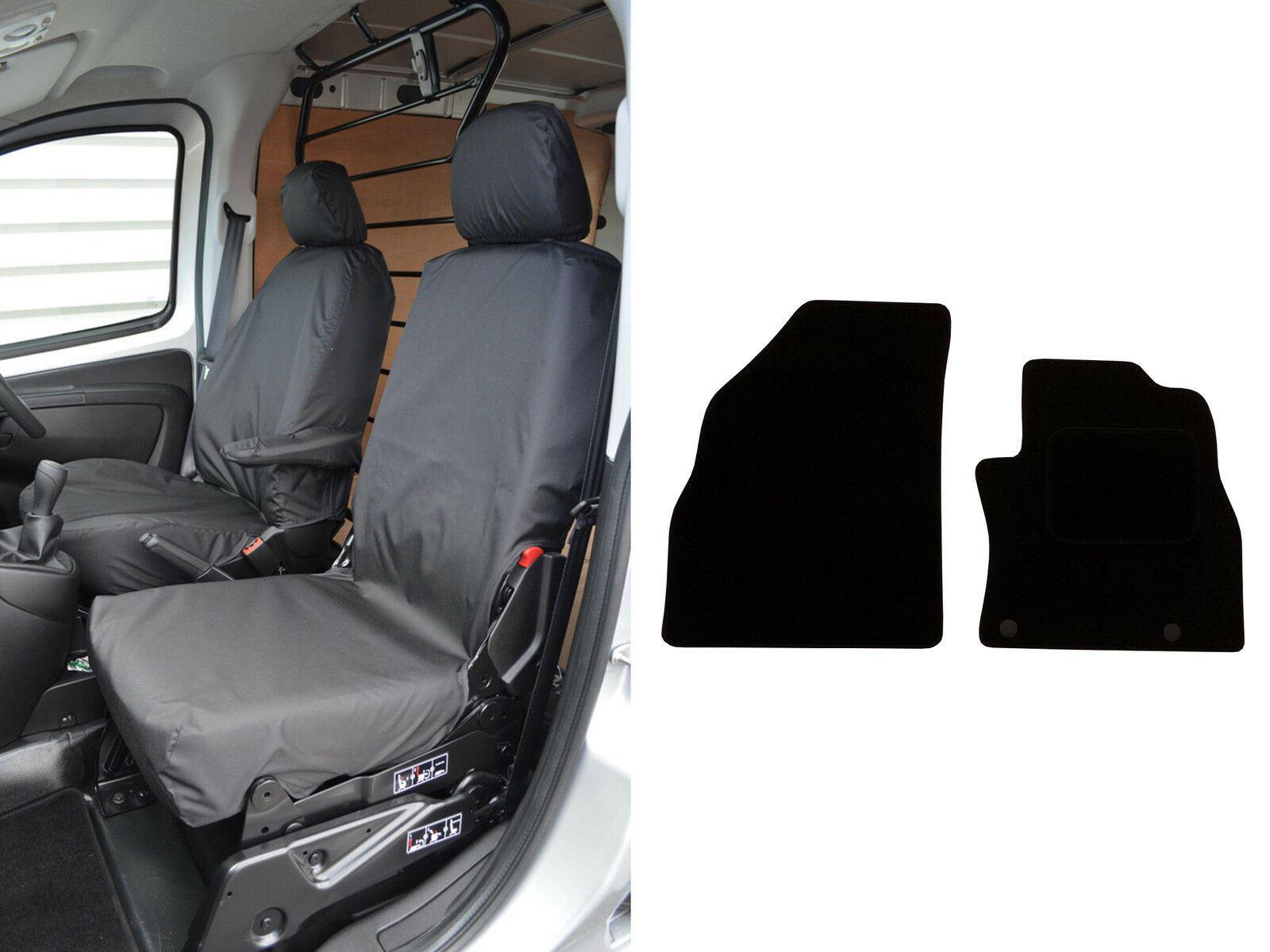 For Citroen Nemo Van 2008 On Front Black Waterproof Van Seat Covers