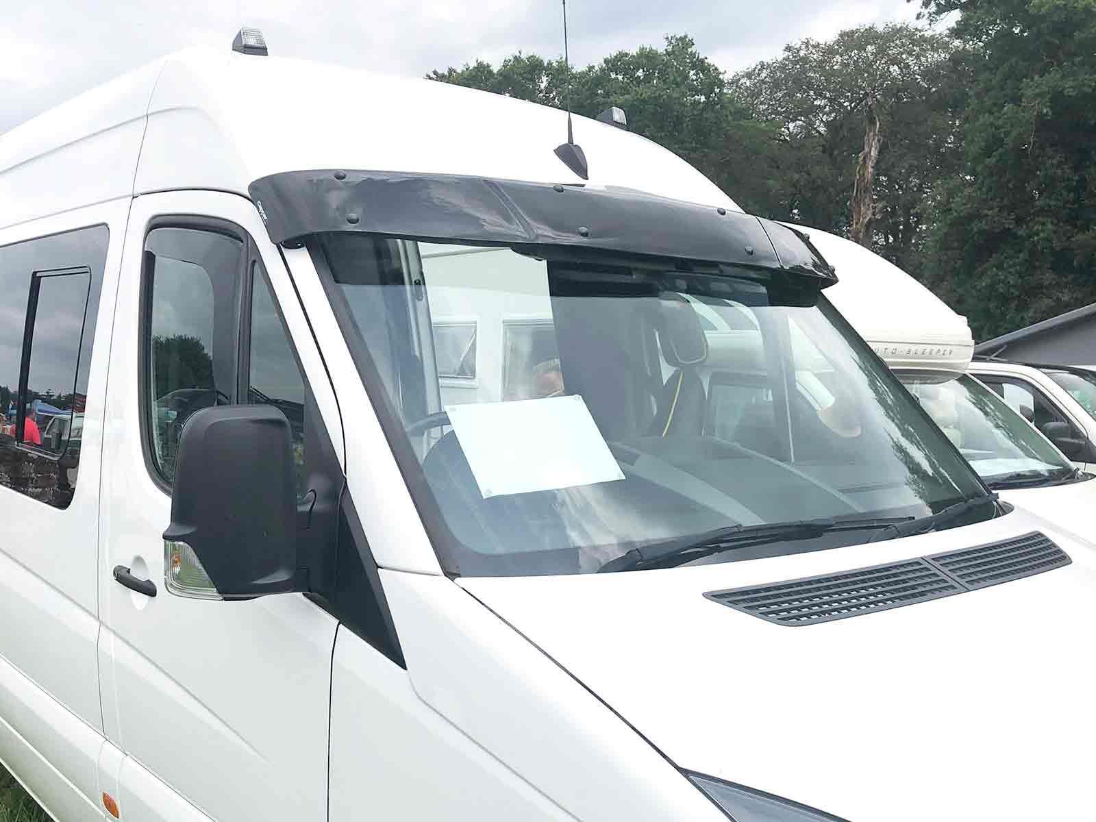 Van Demon Exterior Black Acrylic Sun Visor Shield for Ford Transit Custom