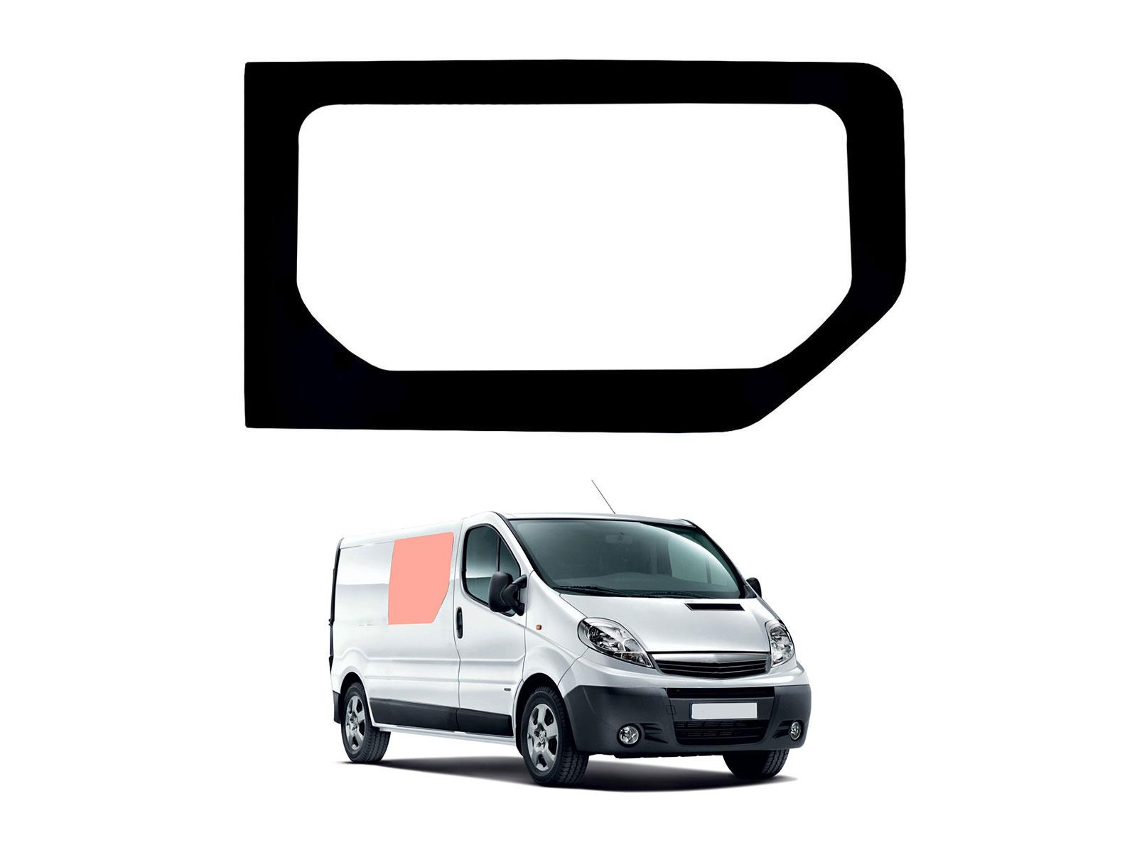 Vauxhall Vivaro 2001-2014 Glass Driver Sliding and Passenger Fixed