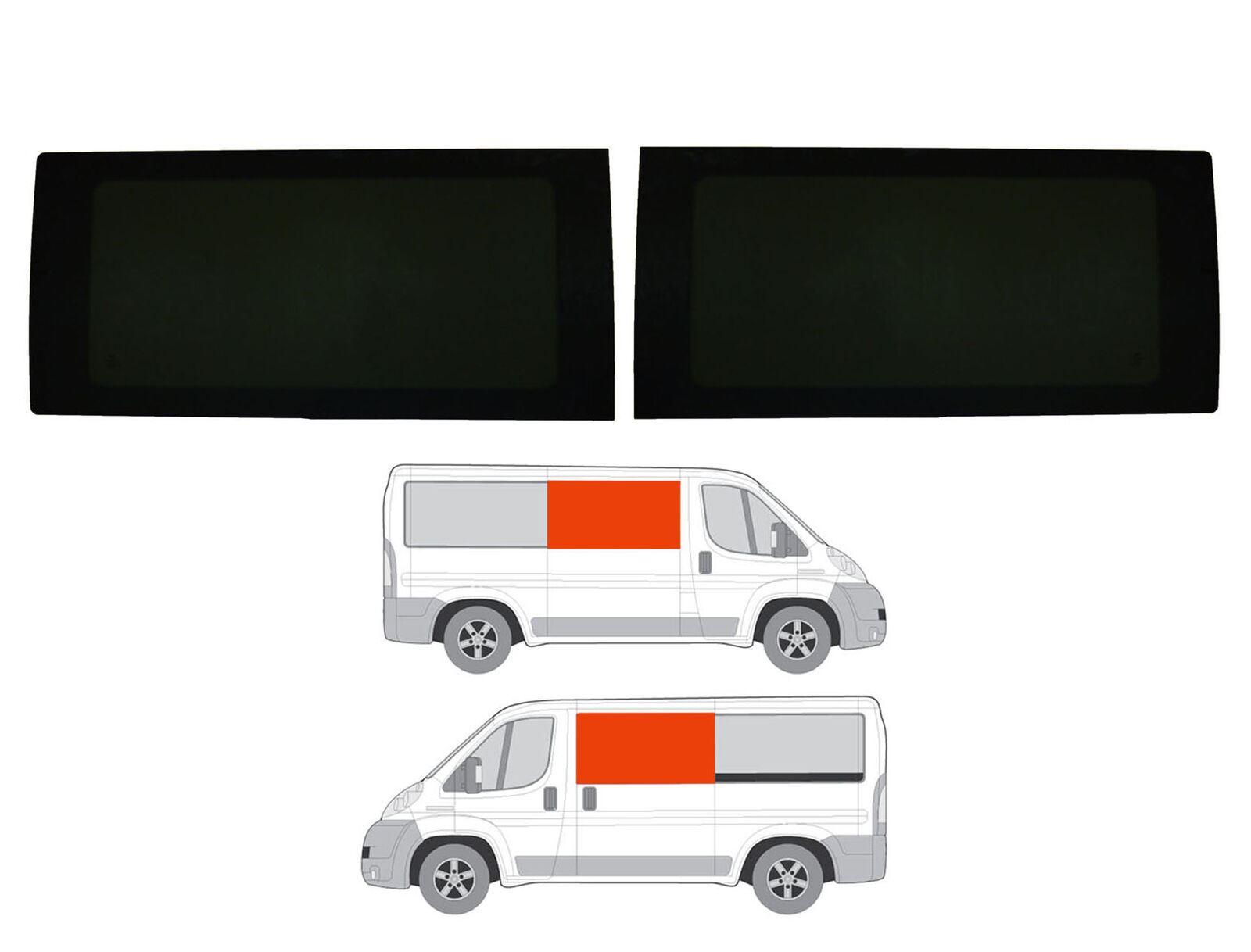 Right Hand Panel Opening Dark Tint Window Citroen Relay L2, L3, L4 2006 on