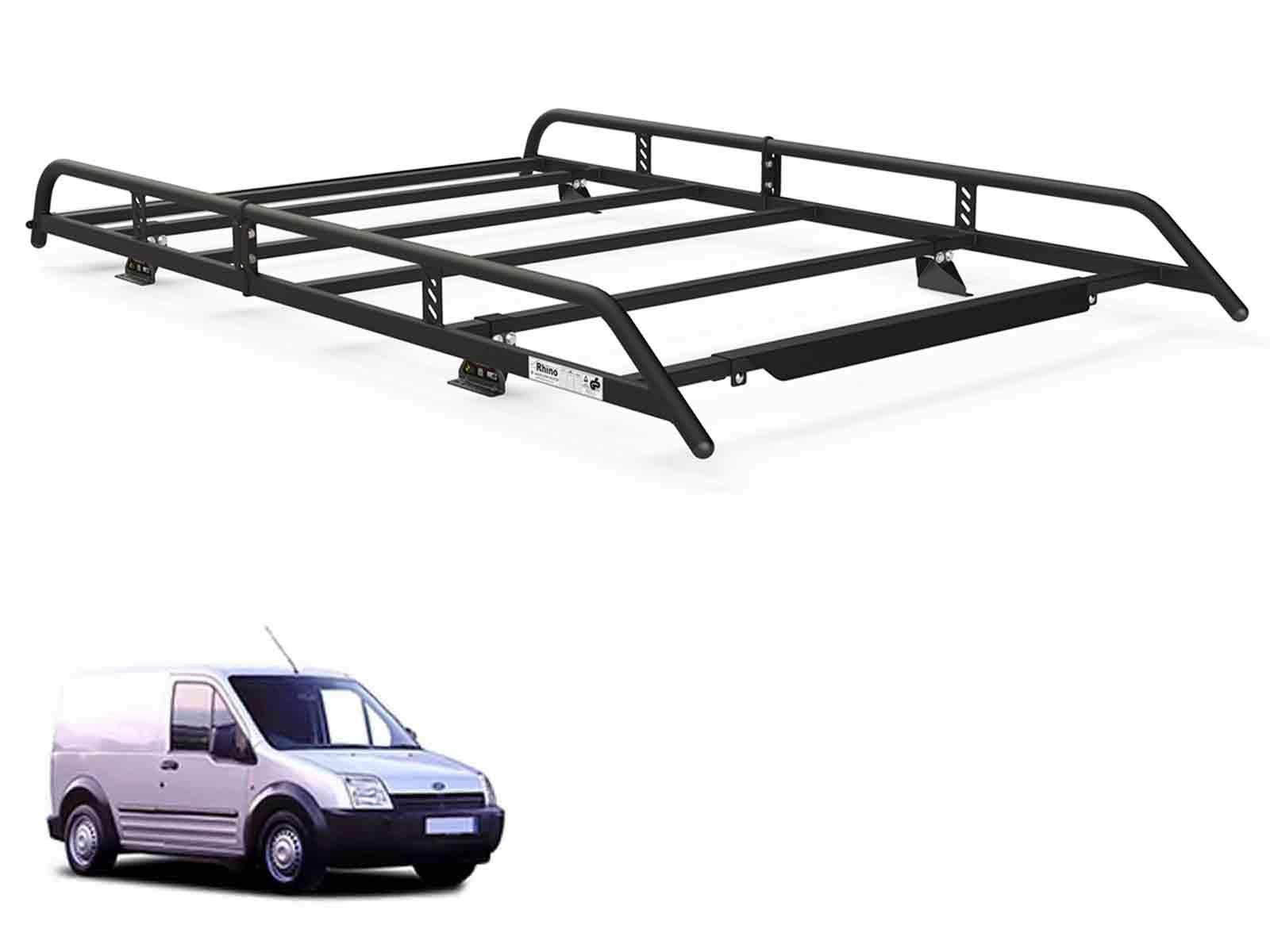 Rhino Modular Roof Rack Black Steel For Ford Transit