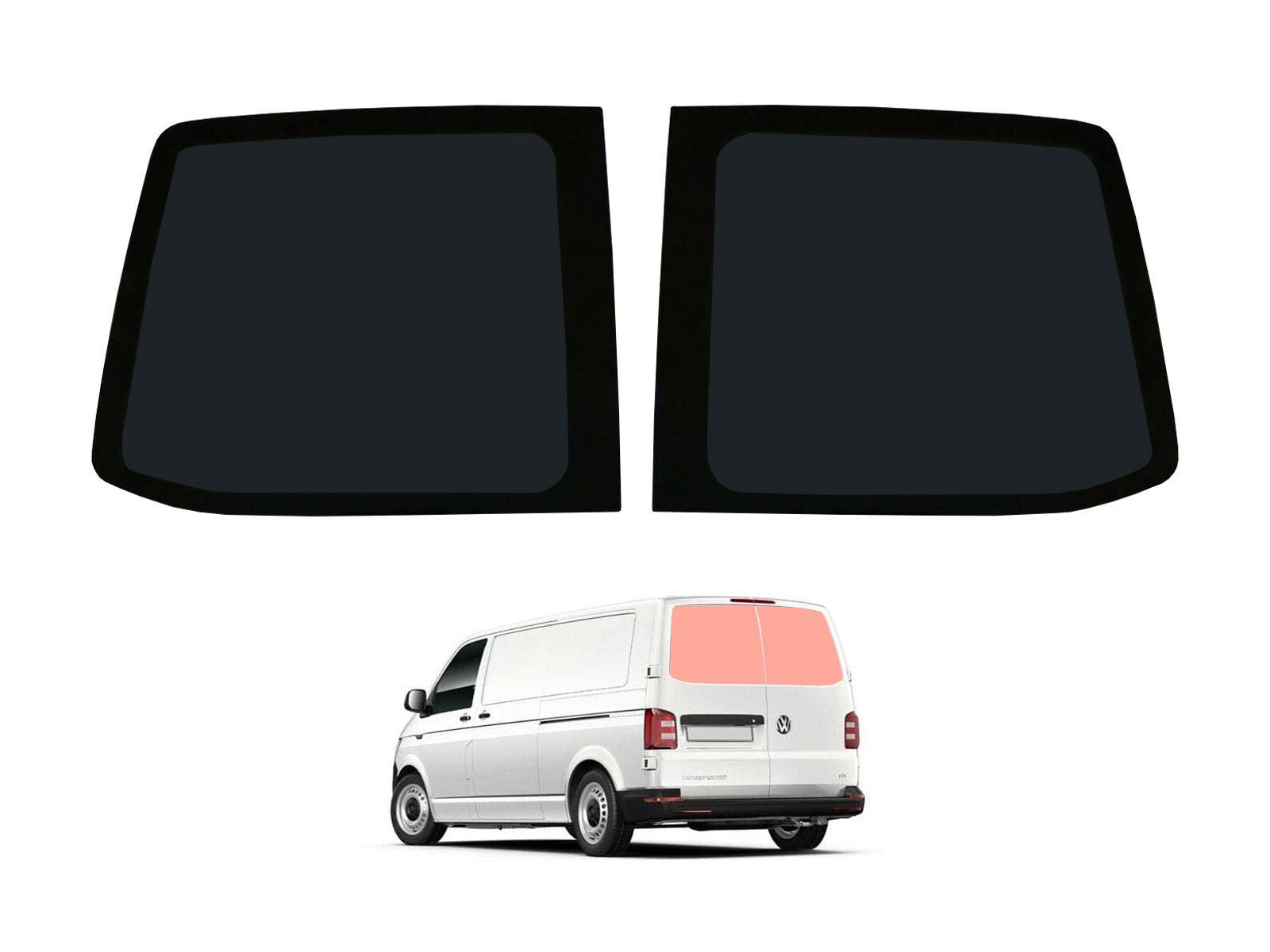 03-15 Rear Barn Door Dark Tint Windows Pair Van Glass for VW Transporter T5