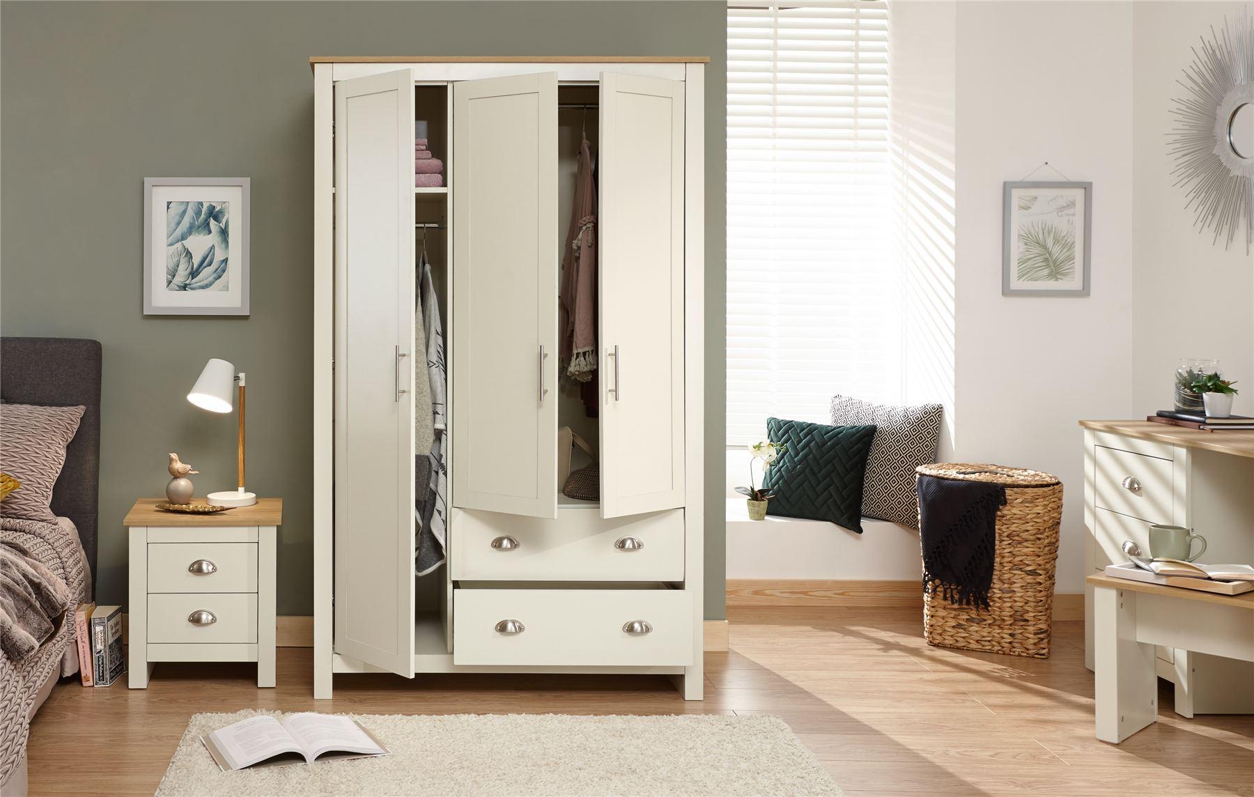 lancaster grey cream bedroom furniture sets wardrobe