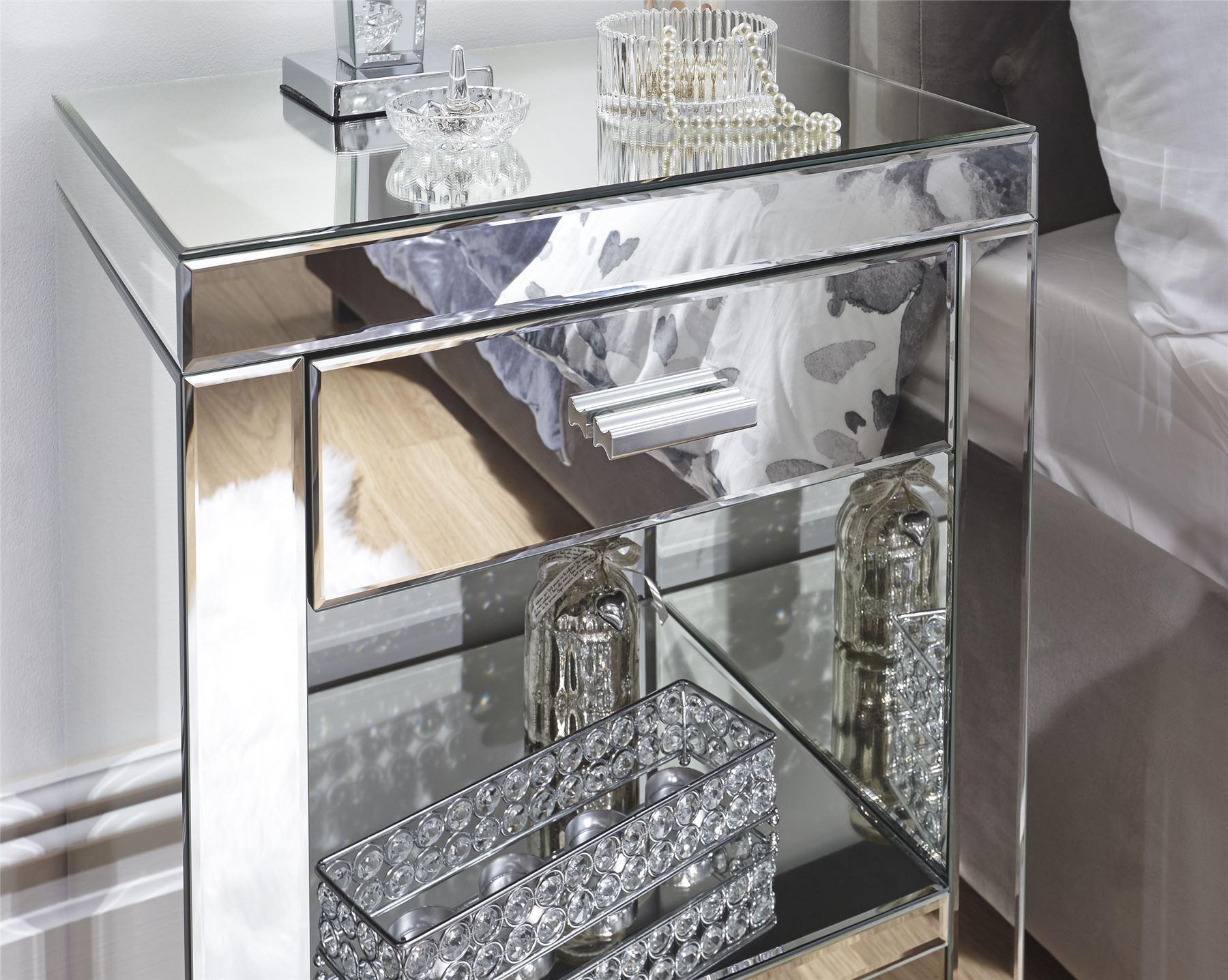 Table Cabinet Napoli 1 Drawer Bedside Chest Venetia BNIB