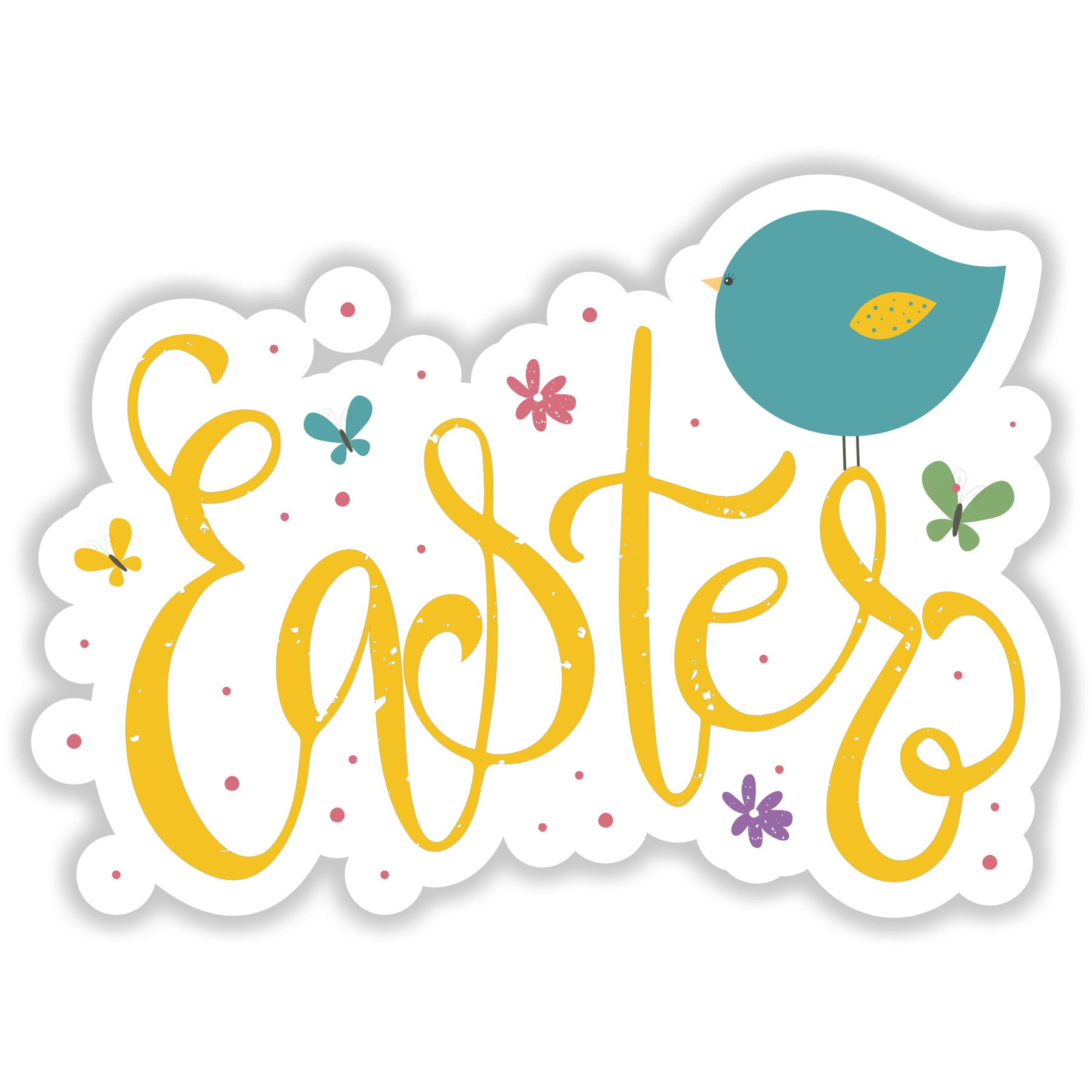 Easter Bird - Happy Easter Self-adhesive vinyl Sticker - Home Decor ...