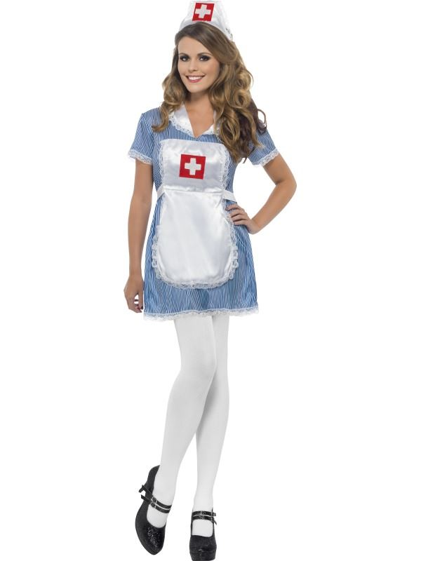 Naughty Nurse Green Scrubs Uniform Cute Fancy Dress Costume up to size 22