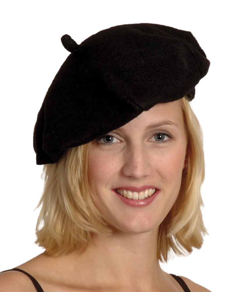 Adults French Black Beret Hat Fancy Dress Accessory France ... 37371ac610e4