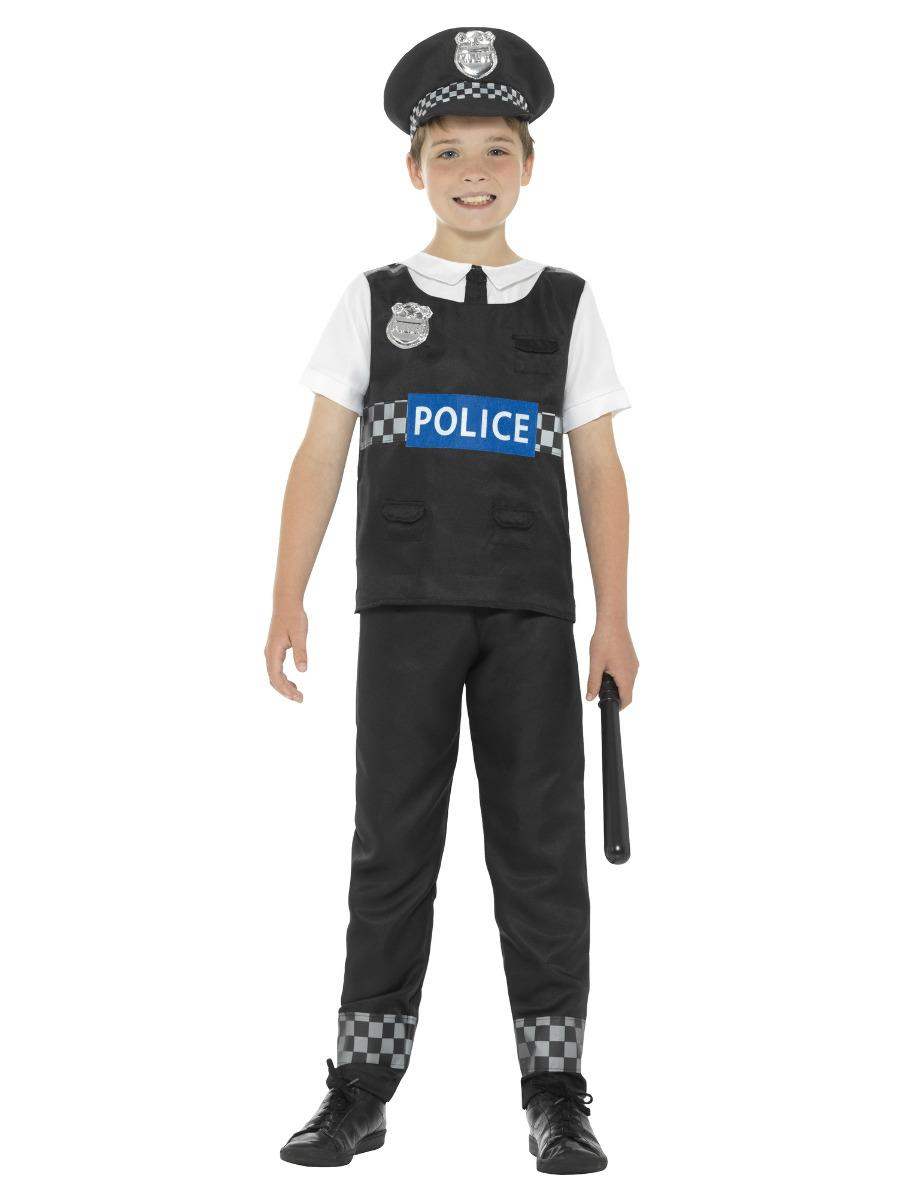 Boys Childrens Police Officer Cop Uniform Fancy Dress Costume People Who Help Us