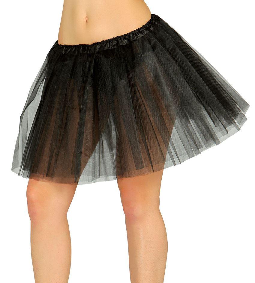 Womens 1980s Black Tutu Skirt Fancy Dress Accessory Carnival Party One Size