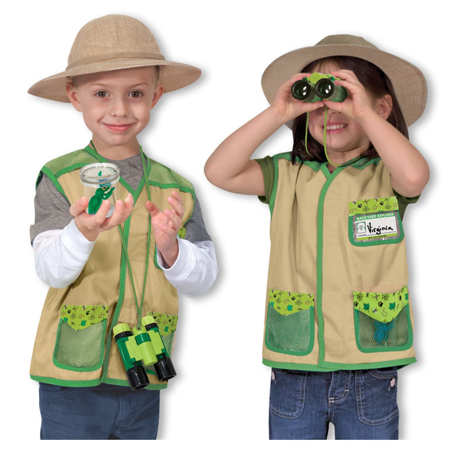 Halloween costumes are more expensive every year. Save money by creating a Halloween costume for your child. Safari Vest for Boy. There is no easier costume than a paper bag mask. Grab a paper bag and cut out holes for your eyes then grab a few markers and let your imagination go wild. They are so simple for kids to make and to wear.