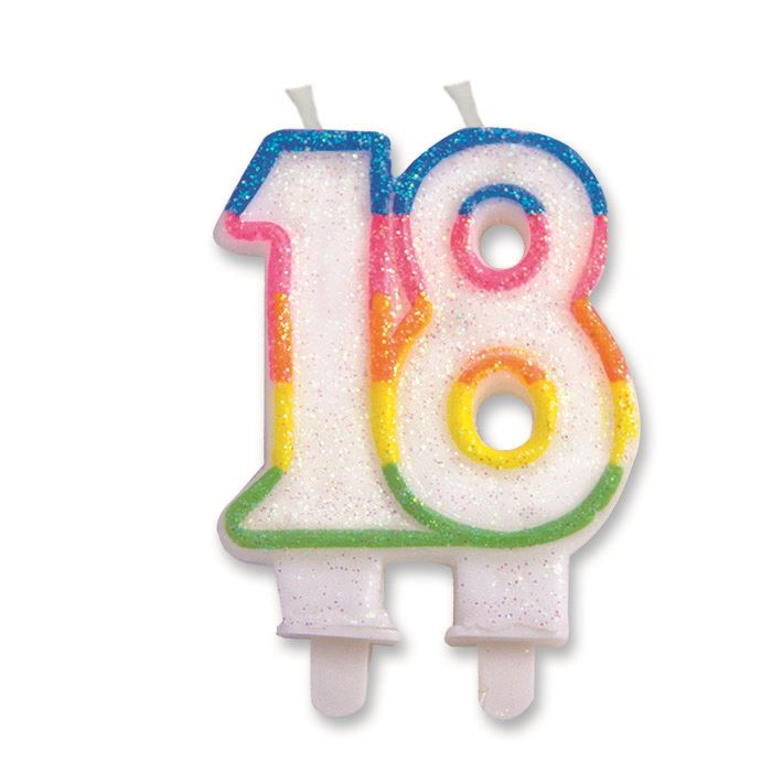 Number 18 18th Birthday Candle Cake Decoration Party