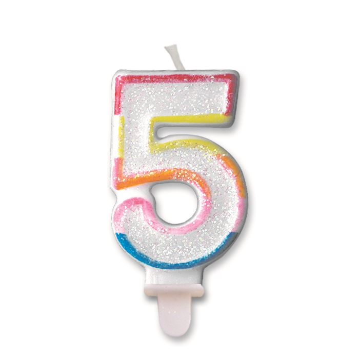 Number 5 5th Candles 12 Designs Birthday Cake