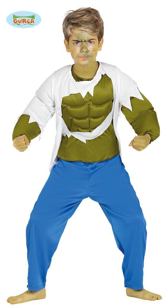 Image is loading Boys-Green-Strongman-Hulk-Superhero-Fancy-Dress-Costume-  sc 1 st  eBay & Boys Green Strongman Hulk Superhero Fancy Dress Costume Kids Book ...