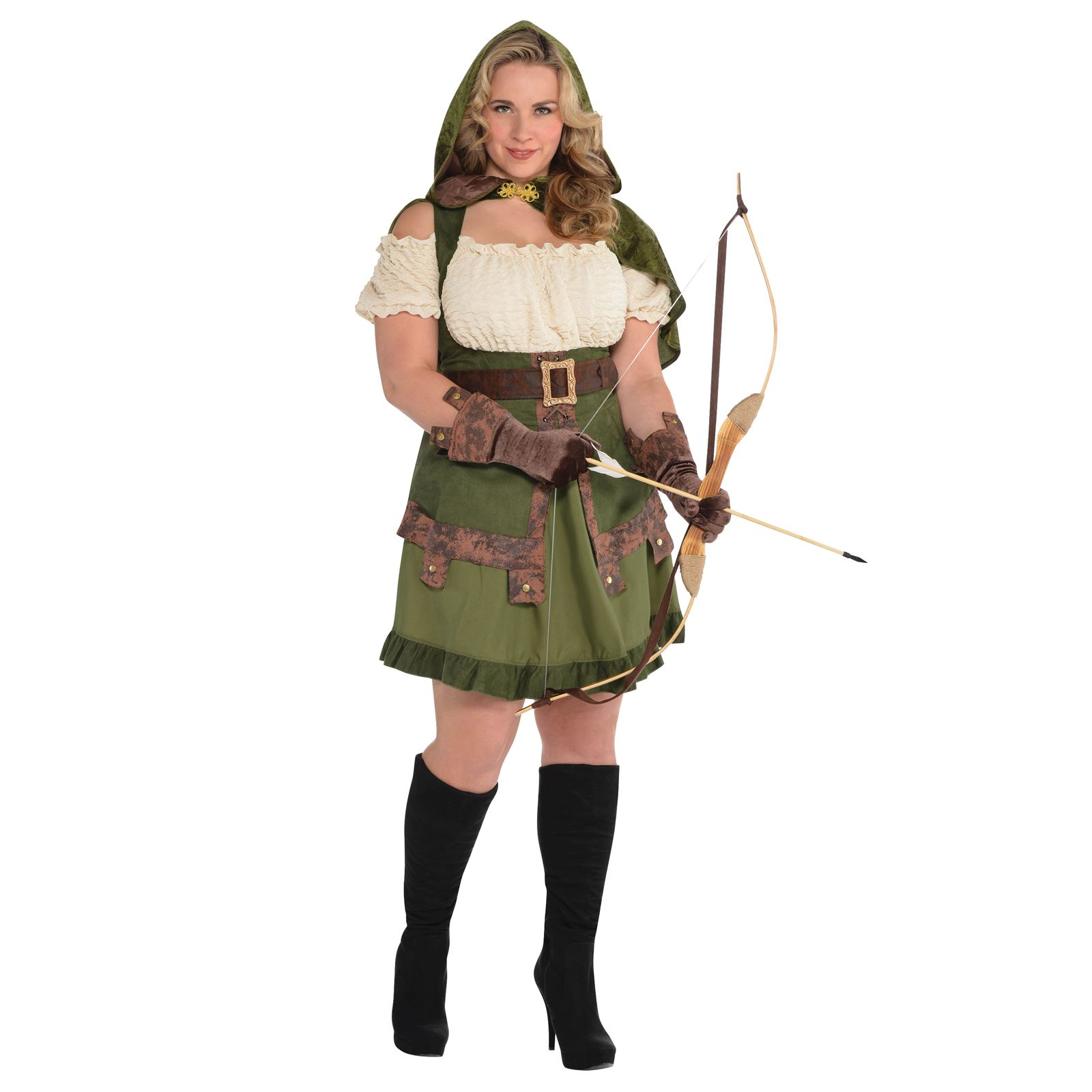 Ladies-Medieval-Elf-Elven-Archer-Robin-Hood-Maid-  sc 1 st  eBay & Ladies Medieval Elf Elven Archer Robin Hood Maid Marion Pan Fancy ...
