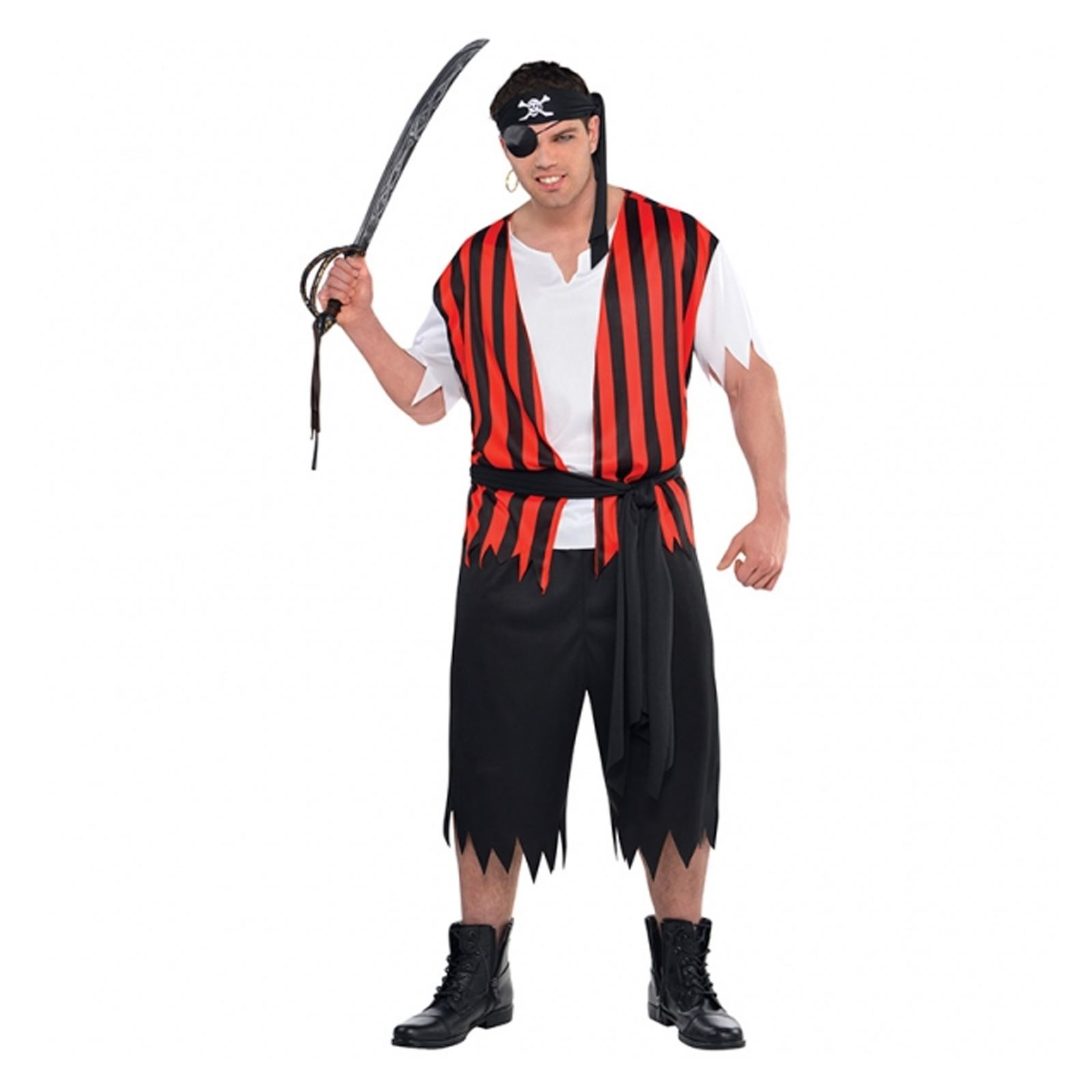 Mens-Womens-Caribbean-Pirate-Captain-Halloween-Fancy-Dress-  sc 1 st  eBay : basic pirate costume  - Germanpascual.Com