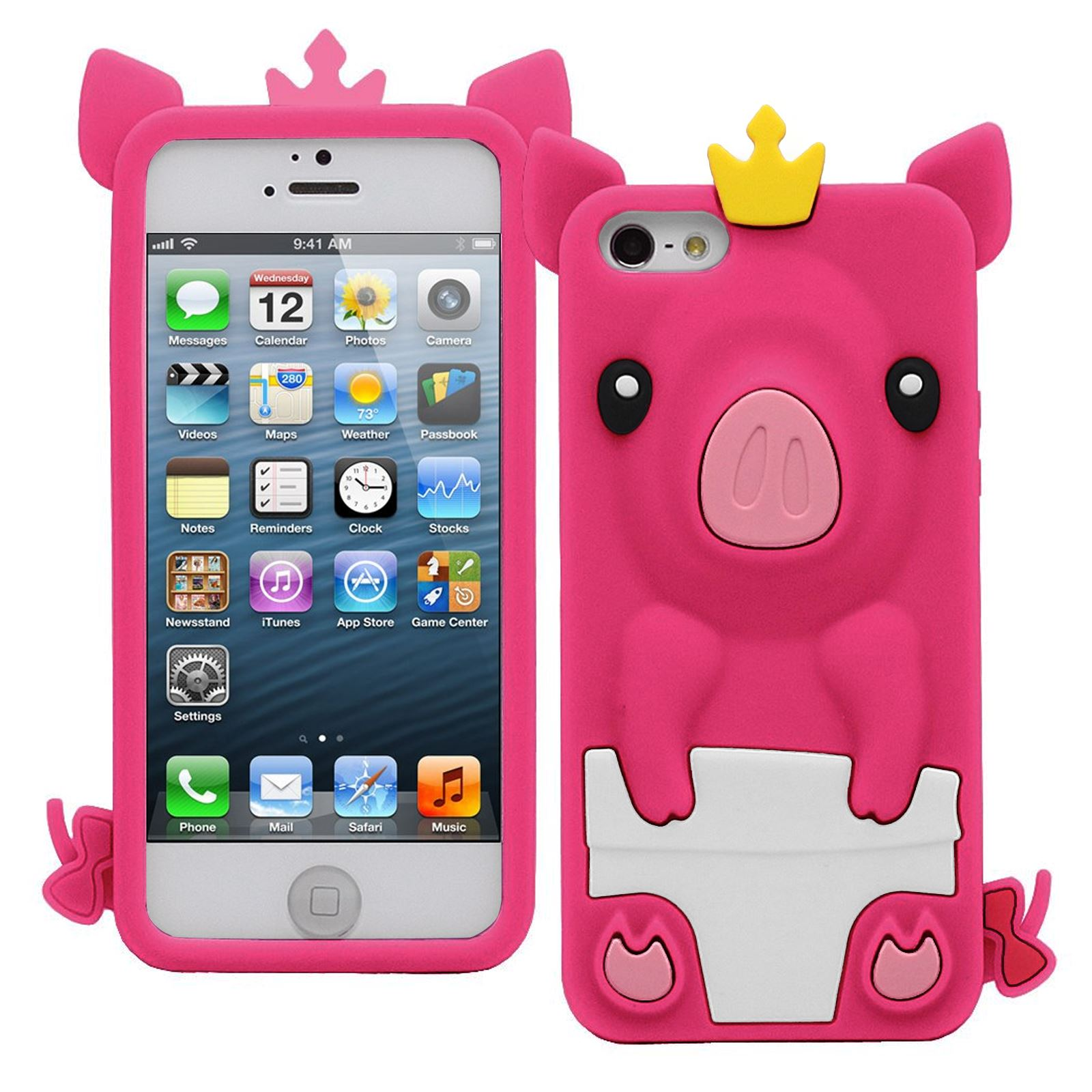 cases for iphone 5c ebay new princess pig cover protector soft silicone 16774