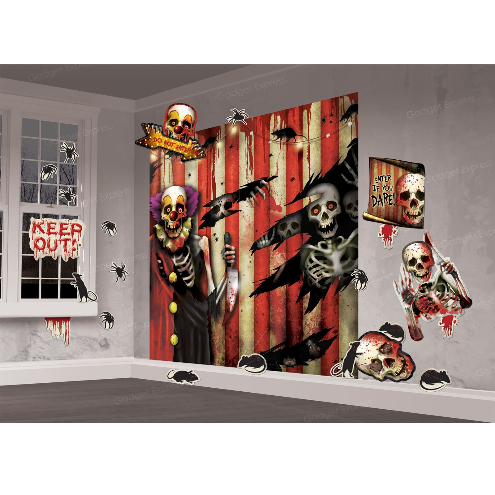 image is loading suicide creepy carnival party scene setter wall circus