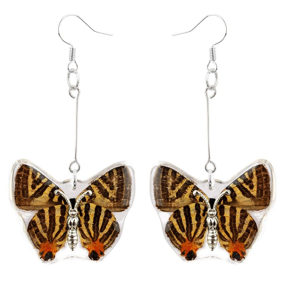 Real-Butterfly-Dangle-Earrings-Set-of-2-Jewellery-Insect-Charms