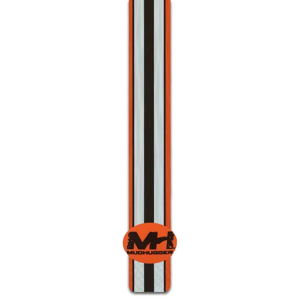 Mudhugger MTB Avant Garde-boue Decal Autocollant-Shorty-orange blanc