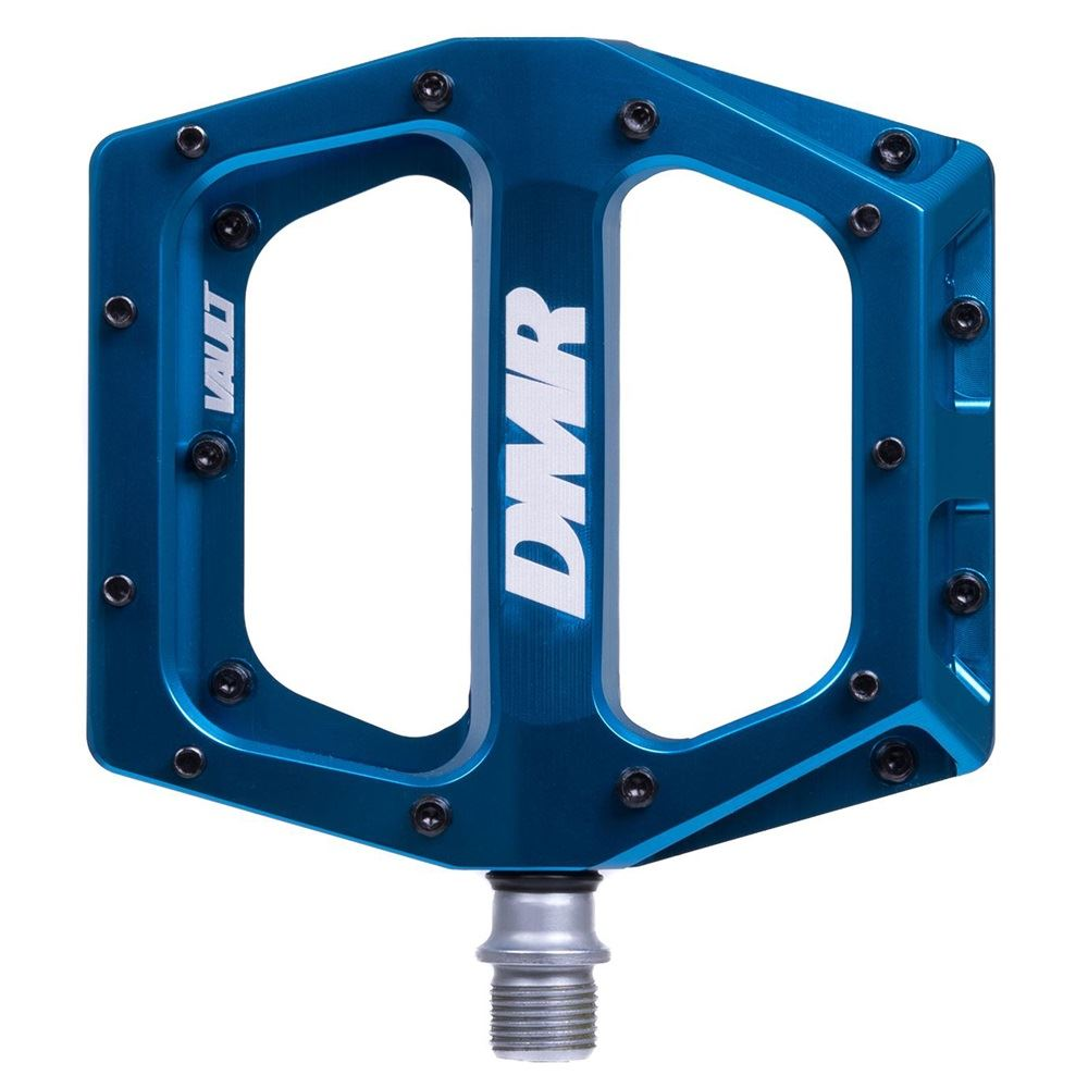 DMR Vault Flat wide Mountain MTB bike BMX Flattie Freeride pedals - Super bluee