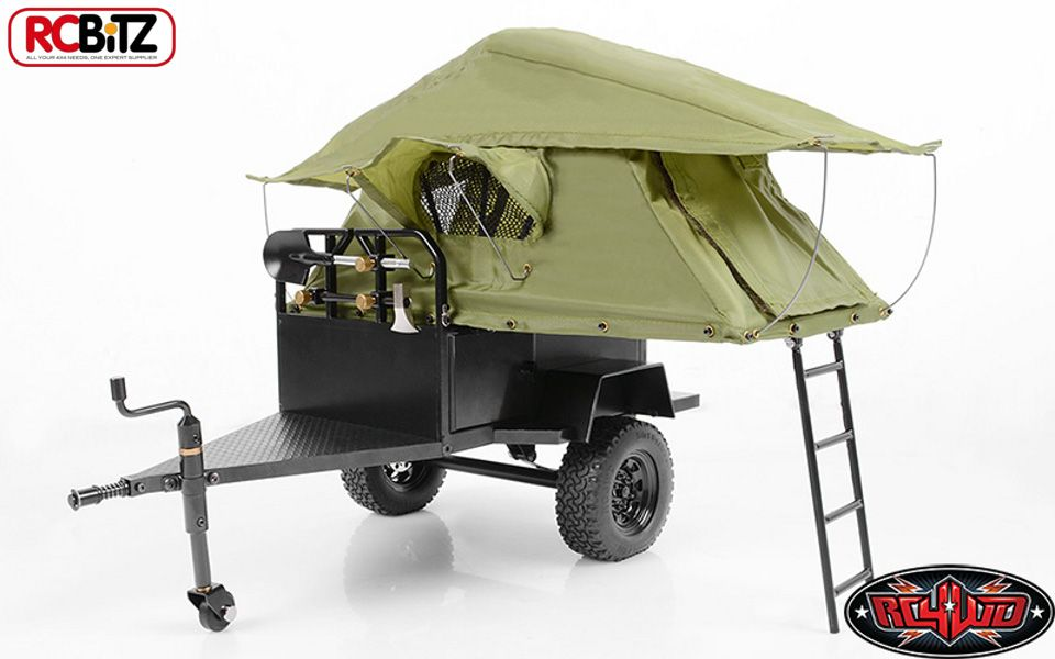 RC4WD Bivouac TOY 1/10 MOAB Camping Trailer AMAZING DETAIL with Tent Z-H0007 rc