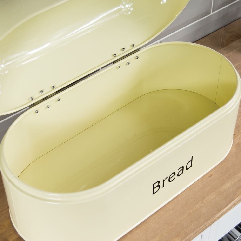 Bread-Bin-Retro-Curved-Mirrored-Steel-Kitchen-Loaf-Food-Storage-Container thumbnail 30
