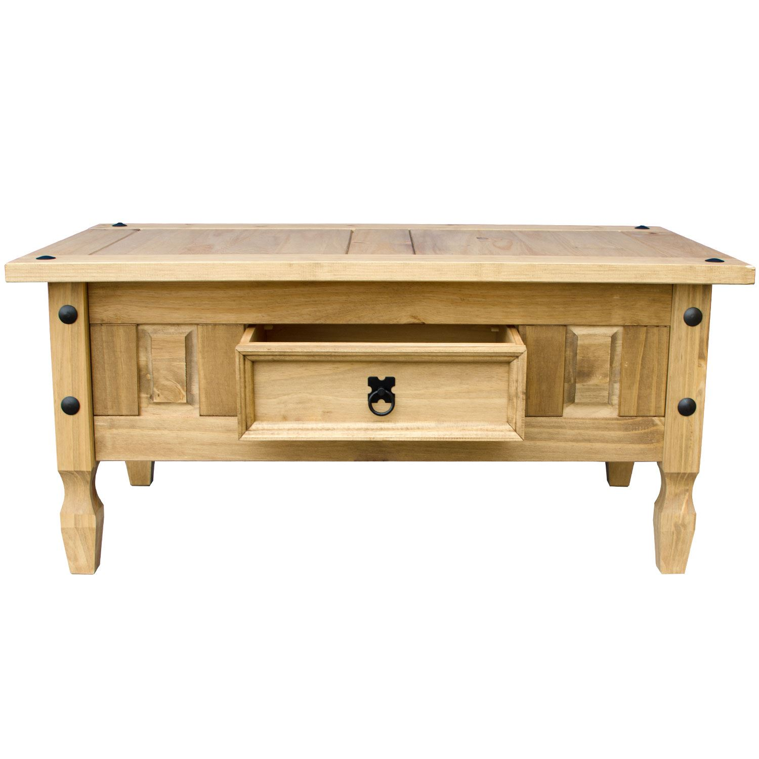 Corona Panama Coffee Table Nest Tables Solid Waxed Pine Mexican