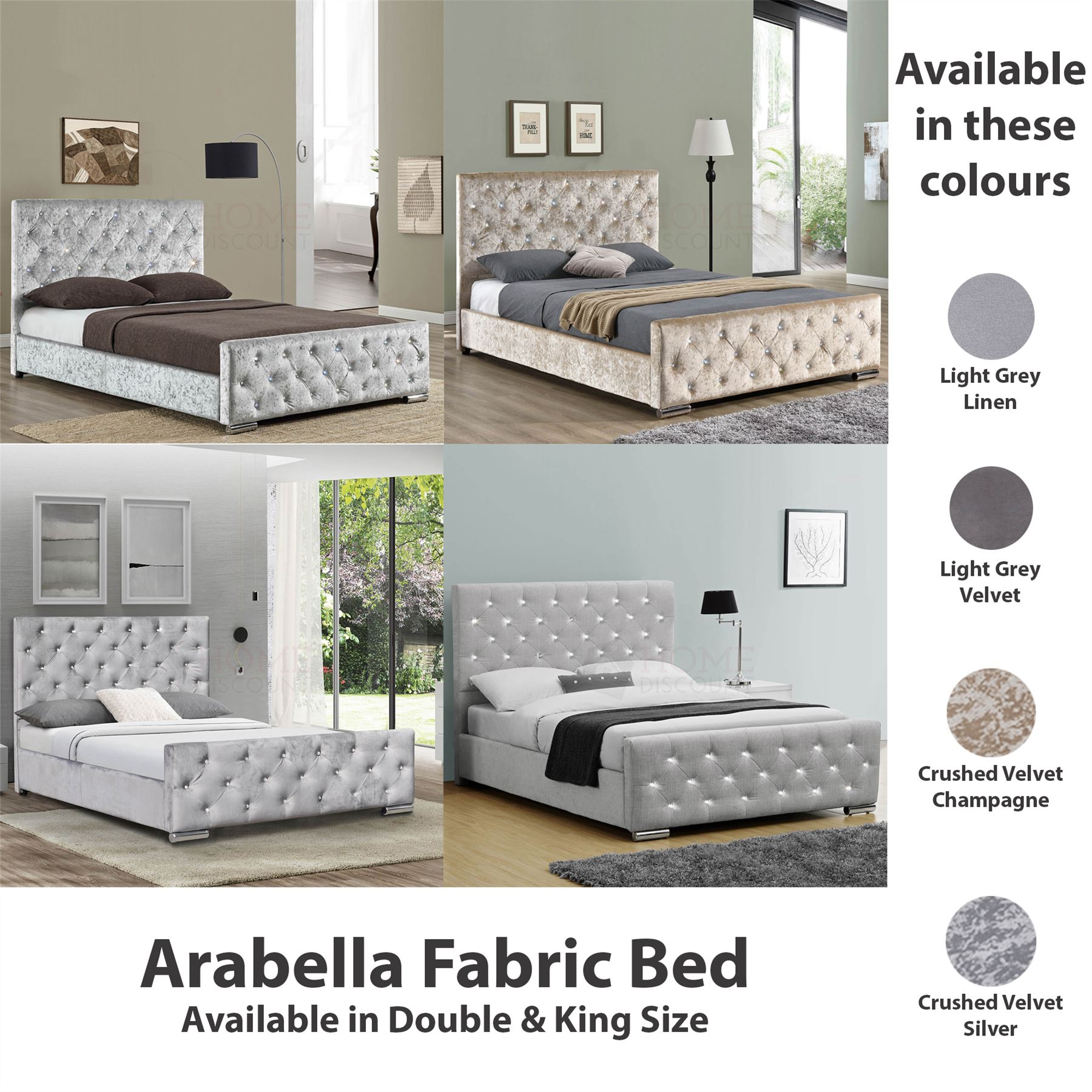 Mattress Bed Modern Double Bed Frame Upholstered Headboard Grey Fabric 4ft6 5ft King Size Home Furniture Diy Rpqualitycontrol Com Br