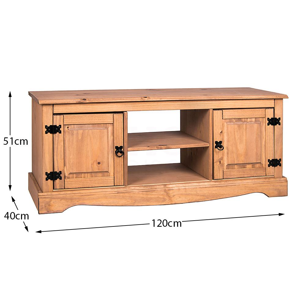 Corona-Solid-Pine-Mexican-Living-Room-Waxed-Furniture-Sideboard-Bookcase-Table thumbnail 188