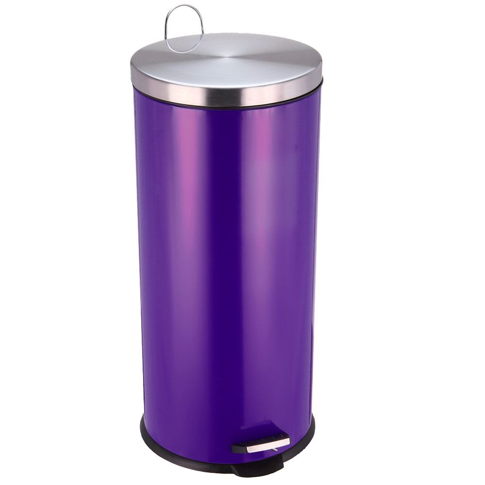30 litre pedal bin stainless steel bathroom kitchen inner bucket waste disposal ebay. Black Bedroom Furniture Sets. Home Design Ideas