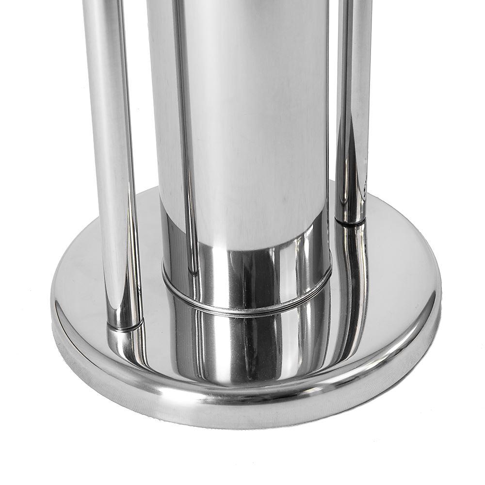 Toilet-Brush-amp-Paper-Holder-Stainless-Steel-Base-Bathroom-Tissue-Roll-Storage thumbnail 10