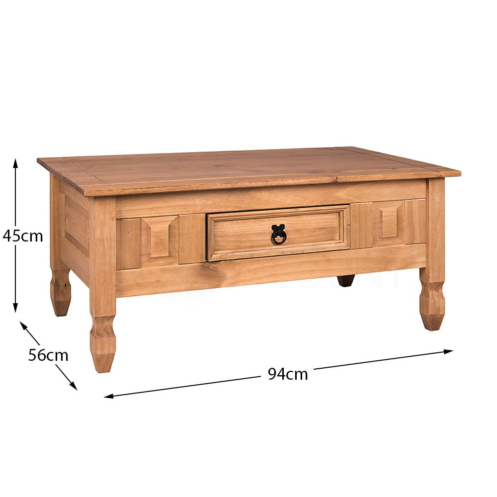 Corona-Solid-Pine-Mexican-Living-Room-Waxed-Furniture-Sideboard-Bookcase-Table thumbnail 10