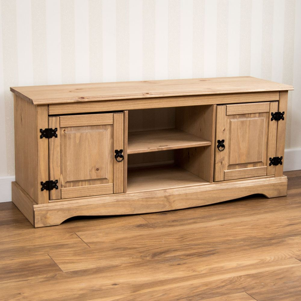 Corona Panama Tv Cabinet Media Dvd Units Wood Solid Pine Furniture  # Meuble Tv En Pin