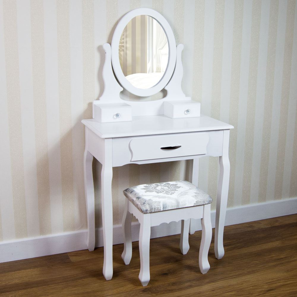 Nishano dressing table drawer stool mirror bedroom makeup